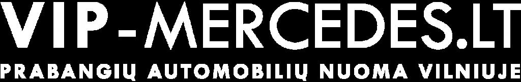 VIP-Mercedes.lt baltas logotipas