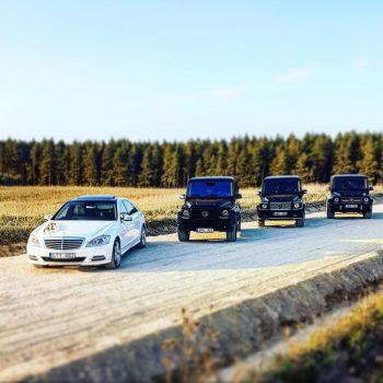 Mercedes Benz G-Class ir S-Class W222 Long automobiliai